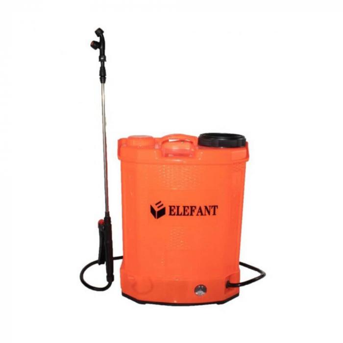 Pompa stropit gradina electrica Elefant, 12 litri, acumulator, 5.5 bar, regulator, lance 85 cm, 3 duze + Atomizor electric portabil Pandora 0