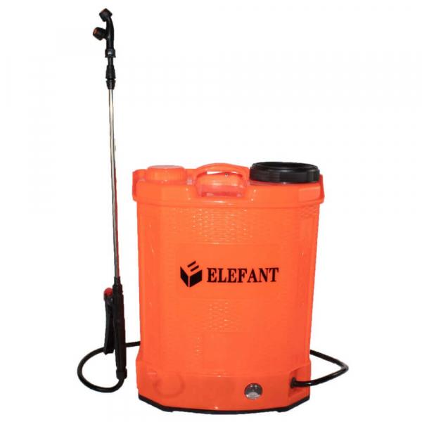 Pompa stropit gradina electrica Elefant, 16 litri, acumulator, 5.5 bar, regulator, lance 85 cm, 3 duze 0