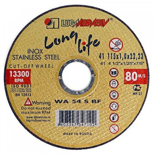 Disc abraziv pentru taiat inox Lugadisc Autentic 115X1,0X22,2 (Long Life) 0