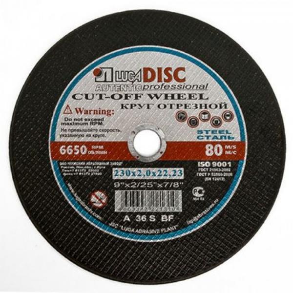 Disc abraziv pentru taiat metal si inox Lugadisc Autentic 230X2,0X22,2 0