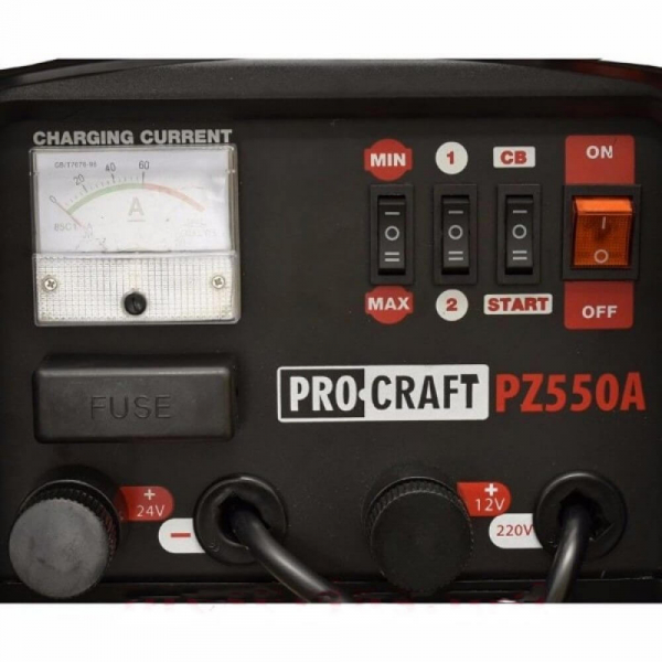 Robot pornire auto 12-24V, Procraft PZ550A,  2000W, Redresor 2