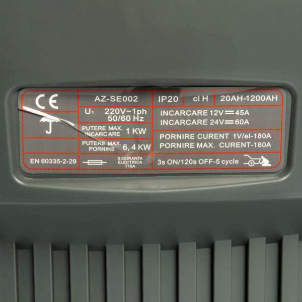 Robot pornire auto cu booster 12-24V, Almaz CD-430, Redresor 2