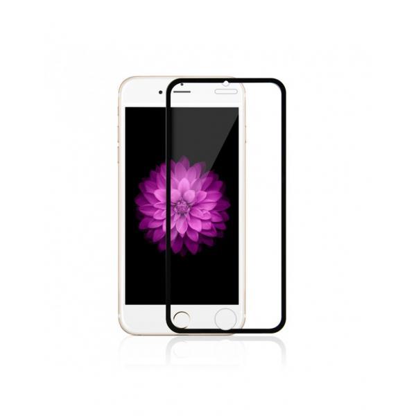 Sticla securizata 0.3mm protectie ecran cu rama pentru iPhone 6s / 6 4.7 inch, neagra 0