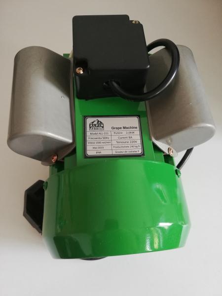 Zdrobitor de struguri electric, 240 - 500 Kg/Ora, Cuva 20 Litri Detasabila, Alpin Profi, Model 2019 6