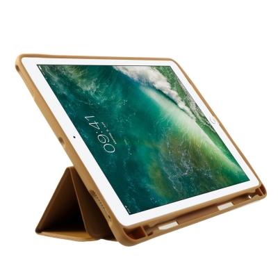 Husa protectie din piele ecologica si gel TPU pentru iPad 9.7 (2017/2018), maro