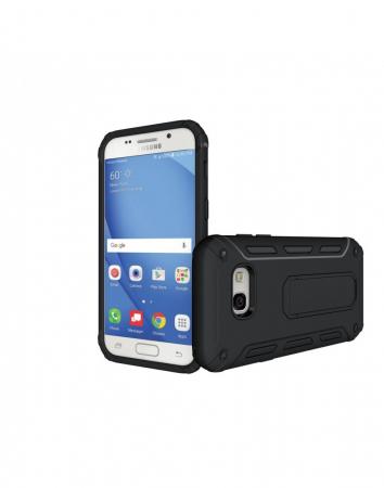 Carcasa protectie spate din plastic si TPU pentru Samsung Galaxy A3 (2017), neagra1