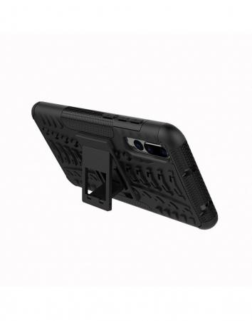 Carcasa protectie spate anti-alunecare pentru Huawei P20 Pro, neagra1
