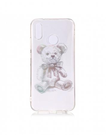 Carcasa protectie spate ,,Urs'' din gel TPU pentru Huawei P20 Lite0