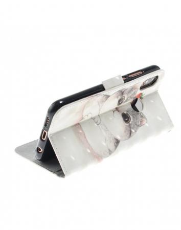 Husa protectie imprimata din piele ecologica pentru Huawei P20 Lite6