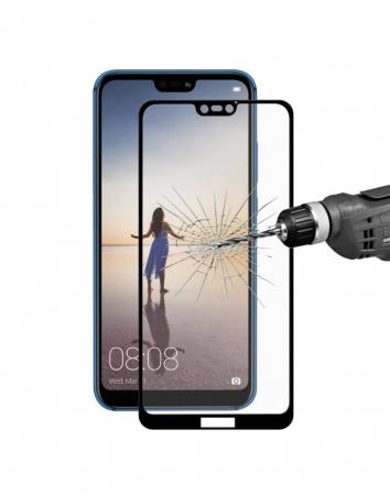 Sticla securizata protectie ecran 0.26mm pentru Huawei P20 Lite, neagra1