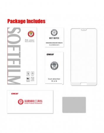 Sticla securizata protectie ecran 0,26 mm pentru Huawei P20, alba2