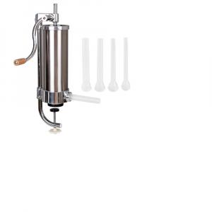 Aparat de umplut carnati vertical, inox , 2.5 kg, 4 palnii incluse,model nou 20190