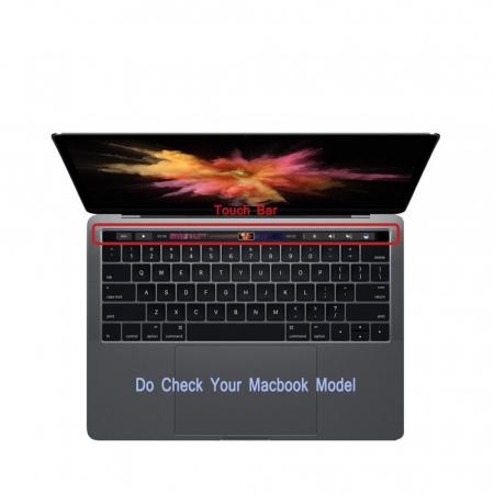 """Folie protectie tastatura pentru Macbook Pro 13.3""""/ 15.4"""" Touch Bar - versiunea americana5"""