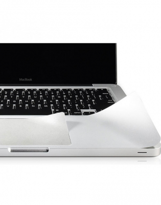 """Folie protectie palm rest si trackpad aspect aluminiu pentru MacBook Pro 13.3"""" 2016 / Touch Bar"""