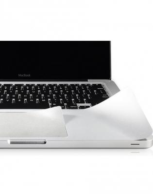 """Folie protectie palm rest si trackpad aspect aluminiu pentru Macbook Pro Retina 13.3""""1"""