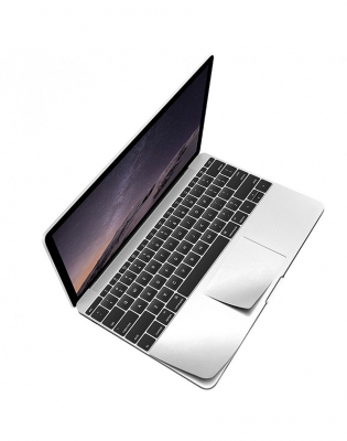 "Folie protectie palm rest si trackpad aspect aluminiu pentru MacBook Pro 15.4"" 2016 / Touch Bar2"