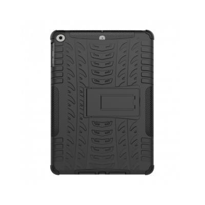 Carcasa protectie spate cu suport din plastic si gel TPU pentru iPad 9.7 inch (2017/2018), neagra [2]