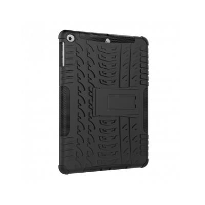Carcasa protectie spate cu suport din plastic si gel TPU pentru iPad 9.7 inch (2017/2018), neagra3