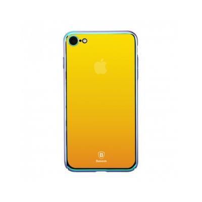 Carcasa protectie spate BASEUS din plastic cu suprafata oglinda pentru iPhone 7 Plus, gold2