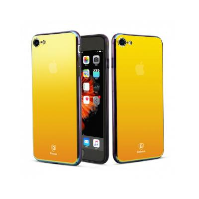 Carcasa protectie spate BASEUS din plastic cu suprafata oglinda pentru iPhone 7 Plus, gold1