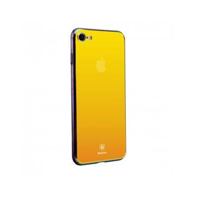 Carcasa protectie spate BASEUS din plastic cu suprafata oglinda pentru iPhone 7 Plus, gold0