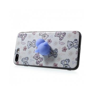 Carcasa protectie spate cu urs Squishy pentru iPhone 7 Plus / iPhone 8 Plus1