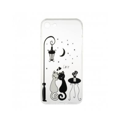 "Carcasa protectie spate CS din gel TPU imprimata ""Sweet Cat Lovers"" pentru iPhone 7 / iPhone 80"