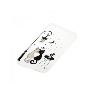 "Carcasa protectie spate CS din gel TPU imprimata ""Sweet Cat Lovers"" pentru iPhone 7 / iPhone 81"