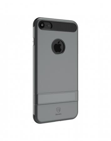 Carcasa protectie spate BASEUS din plastic si gel TPU cu suport pentru iPhone 7 Plus 5.5 inch, gri1