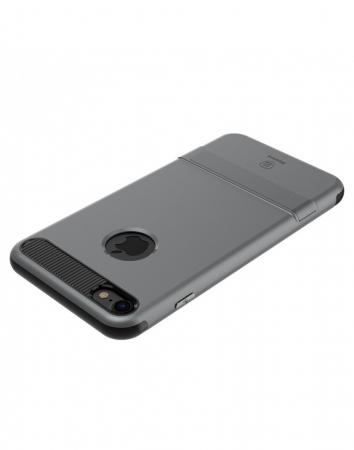 Carcasa protectie spate BASEUS din plastic si gel TPU cu suport pentru iPhone 7 Plus 5.5 inch, gri4