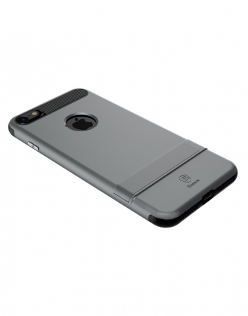 Carcasa protectie spate BASEUS din plastic si gel TPU cu suport pentru iPhone 7 Plus 5.5 inch, gri5