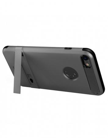 Carcasa protectie spate BASEUS din plastic si gel TPU cu suport pentru iPhone 7 Plus 5.5 inch, gri6