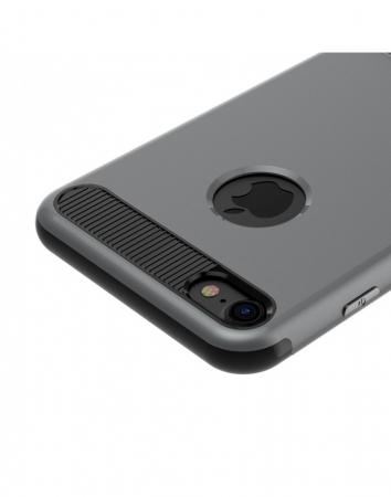 Carcasa protectie spate BASEUS din plastic si gel TPU cu suport pentru iPhone 7 Plus 5.5 inch, gri7