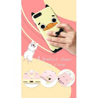"Carcasa protectie spate KINGXBAR imprimata ""Pisica"" pentru iPhone 7 / iPhone 8, alba2"