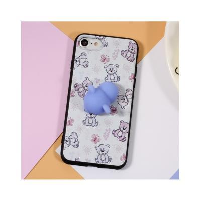 Carcasa protectie spate cu urs Squishy pentru iPhone 7 / iPhone 82
