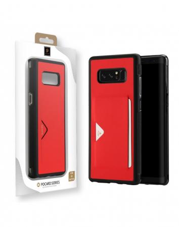 Carcasa protectie spate cu suport pentru card pentru Samsung Galaxy Note 83