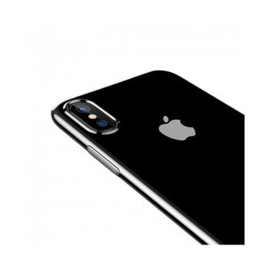 Carcasa protectie spate din gel TPU cu dopuri anti-praf pentru iPhone X 5.8 inch2
