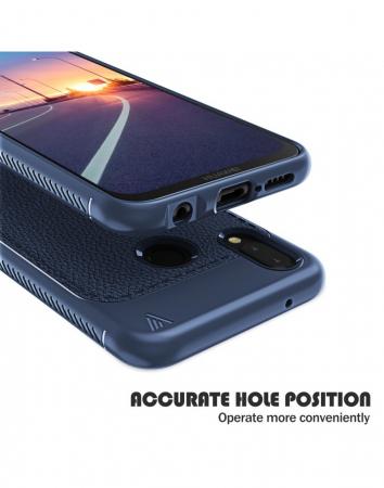 Carcasa protectie spate din piele ecologica si gel TPU pentru Huawei P20 Lite1