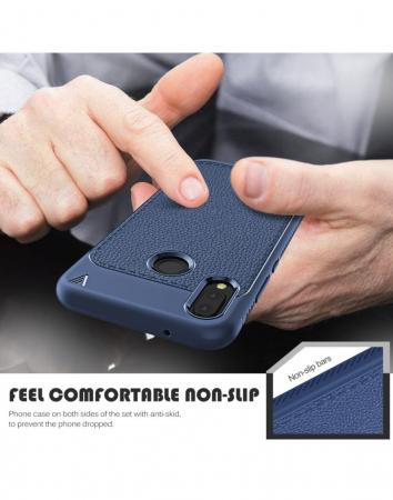 Carcasa protectie spate din piele ecologica si gel TPU pentru Huawei P20 Lite2