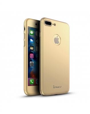 Husa protectie completa IPAKY pentru iPhone 7 Plus 5.5 inch, gold0