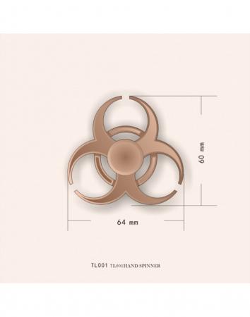 """Jucarie antistres Fidget Spinner cu model """"Toxic""""1"""