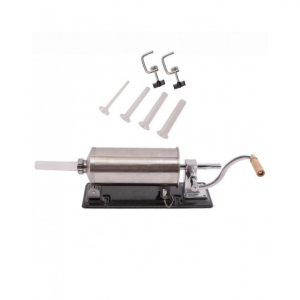 Masina manuala de facut carnati orizontala, inox , 4kg, 4 palnii incluse0
