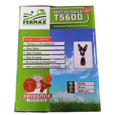 Motocositoare Fermax T5600, motor 4 timpi, 7CP, accesorii incluse13