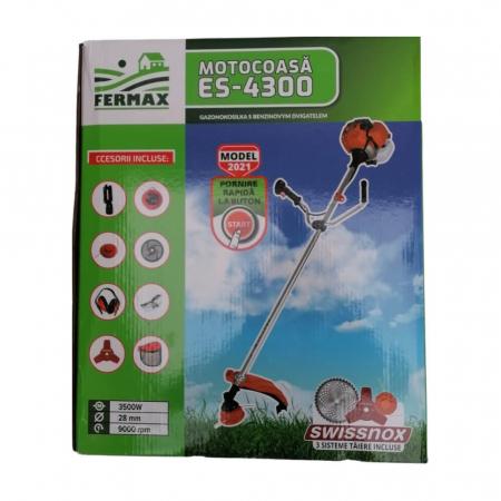 Motocositoare pe benzina Fermax ES-4300, cu pornire electrica si manuala, 4.7 CP, 9000 rpm, 8 accesorii incluse [7]