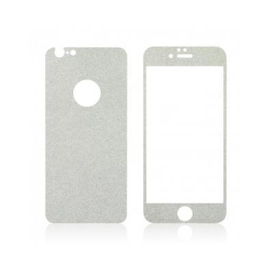 Pachet sticla securizata fata si sticker pentru spate cu sclipici pentru iPhone 6 Plus / 6s Plus 5.5 inch2