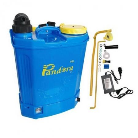 Pompa de stropit 2 in 1 (baterie + manuala), 16L, Pandora + Atomizor electric portabil Pandora + Lance extensibila telescopica inox 230 cm1