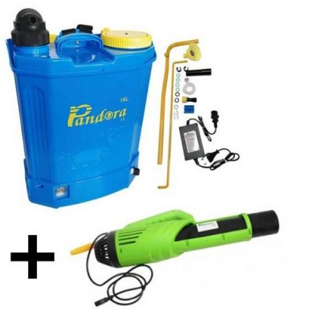 Pompa de stropit 2 in 1 (baterie + manuala), 16L, Pandora + Atomizor electric portabil Pandora [1]