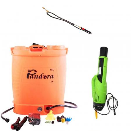 Pompa electrica pentru stropit cu acumulator, 18 litri, Pandora + Atomizor electric portabil Pandora - Copie [0]