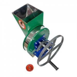 Tocator-Razatoare manuala cu fulie - cuva inox pentru tocat radacinoase, legume si fructe0