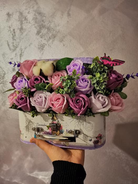 aranjament floral trandafiri sapun [1]